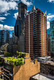 View of buildings in the Turtle Bay neighborhood, from a rooftop Royalty Free Stock Photos