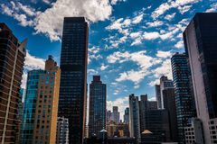 View of buildings in the Turtle Bay neighborhood, from a rooftop. On 51st Street in Midtown Manhattan, New York Stock Photo