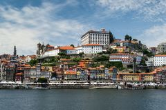 View of Buildings at Waterfront Royalty Free Stock Photos