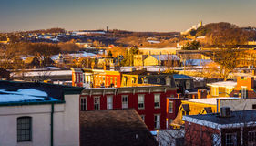 View of buildings in York, Pennsylvania from a parking garage. Stock Images