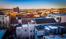 View of buildings in York, Pennsylvania from a parking garage. Royalty Free Stock Photography