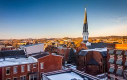 View of buildings in York, Pennsylvania from a parking garage. Stock Photography