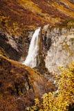 View on Buldrefossen waterfall, Gamle Strynefjellsvegen, Norway Royalty Free Stock Photos
