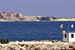 View on Bulgarian coastline in daylight Stock Image