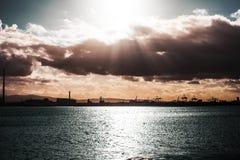 Views from Bull Island in Dublin, Ireland stock photography