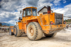 View of a bulldozer. At construction yard royalty free stock photos