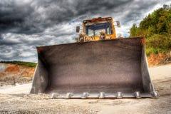 View of a bulldozer. At construction yard stock photo