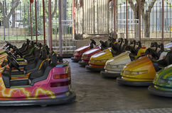 View of bumper cars Royalty Free Stock Photo