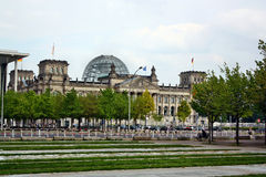 View of the Bundestag (Reichstag) in Berlin Royalty Free Stock Photos