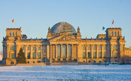View of Bundestag at sunset Royalty Free Stock Photos