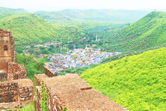 View from bundi fort and palace india Stock Photos