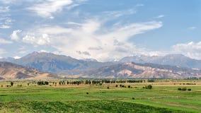 View from Burana Tower close to Bishkek, Kyrgyzstan, taken in Au royalty free stock image