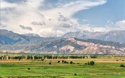 View from Burana Tower close to Bishkek, Kyrgyzstan, taken in Au stock photos
