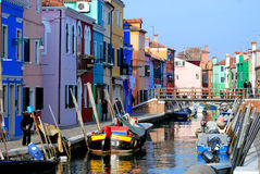 View on Burano island Stock Photography