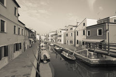 View from the Burano island, Venice (vintage effect) Royalty Free Stock Images