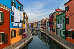 View of Burano, Italy 1 Royalty Free Stock Images