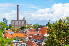 View from Burcht in Leiden, Netherlands Stock Photo