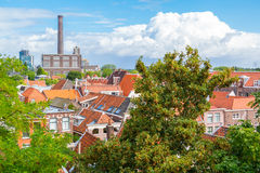 View from Burcht in Leiden, Netherlands Royalty Free Stock Image