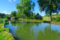 View of the Burgundy Canal Royalty Free Stock Photo