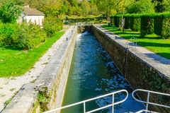 View of the Burgundy Canal Stock Photo