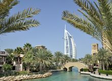 View of the Burj al Arab Stock Image
