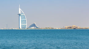 The view on Burj Al Arab hotel Stock Image