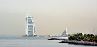 View of Burj Al Arab hotel Royalty Free Stock Images