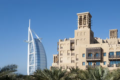 View of Burj Al Arab with Mina a'Salam Hotel (2) Royalty Free Stock Images