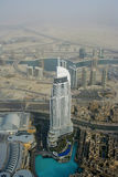 View from the Burj Khalifa down Dubai city Royalty Free Stock Photography