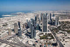 View from Burj Khalifa in Dubai Royalty Free Stock Photo
