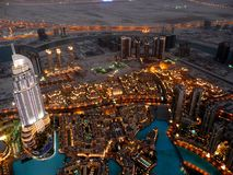 View from Burj Khalifa in Dubai Royalty Free Stock Photography
