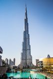 View on Burj Khalifa, Dubai, UAE, at night Royalty Free Stock Photo