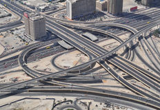 Dubai Traffic from above Royalty Free Stock Image