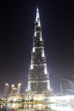 The view on Burj Khalifa and man-made lake Stock Photos