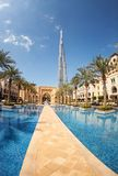 View of Burj Khalifa the tallest building in world Stock Photography