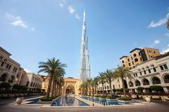 View of Burj Khalifa the tallest building in world Royalty Free Stock Photo