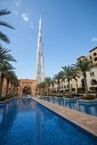 View of Burj Khalifa the tallest building in world Royalty Free Stock Photography