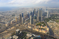 View from Burj Khalifa Stock Images