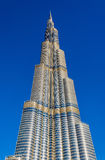 View of Burj Khalifa tower in Dubai Royalty Free Stock Photography
