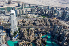 View from Burj khalifa tower 3 Royalty Free Stock Photo