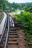 View of Burma railway Royalty Free Stock Photo