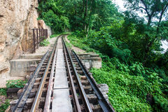 View of Burma railway Stock Photo