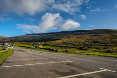 View of the Burren from the car park at Fanore beach, Co. Clare. Royalty Free Stock Image