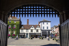 View of Bury St. Edmunds from the Abbey Gate Stock Images