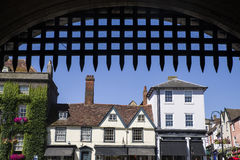 View of Bury St. Edmunds from the Abbey Gate Royalty Free Stock Image