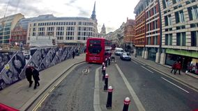 View from bus of London, UK Stock Photo