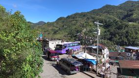 View of the bus station in Banaue, Philippines stock footage