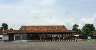 View of the bus station in Jogja, Indonesia.  Royalty Free Stock Image
