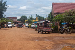 View of a bus station in Pakse Stock Photography