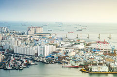 View of Busan port. Stock Photo